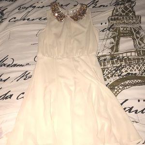 👼🏻 Silk Cream Peter Pan Collared Dress 👼🏻